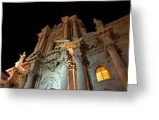 Duomo - Cathedral - Siracusa - Syracuse - Sicily - Italy Greeting Card by Georgia Mizuleva