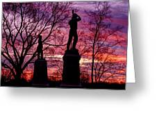 Durell's Independent Battery D And 48th Pa Volunteer Infantry-a1 Sunset Antietam Greeting Card by Michael Mazaika