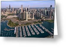 Dusable Harbor Chicago Greeting Card by Steve Gadomski