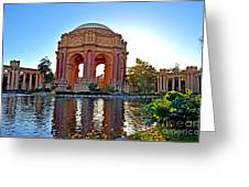 Dusk At The Palace Of Fine Arts In The Marina District Of San Francisco Greeting Card by Jim Fitzpatrick