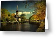 Dutch Windmill Greeting Card by Annie  Snel