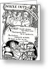 Duty Of Children  1895 Greeting Card by Daniel Hagerman
