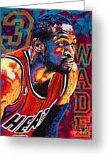 Dwyane Wade 3 Greeting Card by Maria Arango