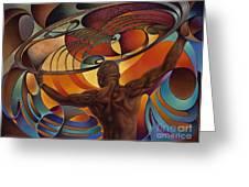 Dynamic Scorpio Greeting Card by Ricardo Chavez-Mendez