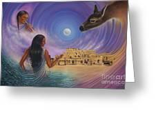 Dynamic Taos Il Greeting Card by Ricardo Chavez-Mendez
