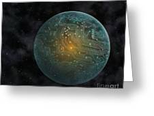 Dyson Sphere Greeting Card by Lynette Cook