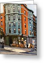 E And W Broadway Greeting Card by Deb Putnam