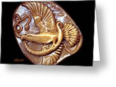 Eagle And Snake Greeting Card by Patricia Howitt