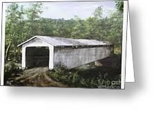 Eagle Creek Covered Bridge Brown County Ohio Greeting Card by Rita Miller