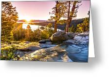 Eagle Falls Emerald Bay Lake Tahoe Sunrise First Light Greeting Card by Scott McGuire