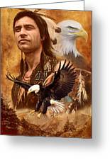 Eagle Montage Greeting Card by Garry Walton