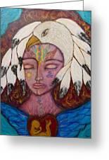 Eagle Shaman Greeting Card by Havi Mandell