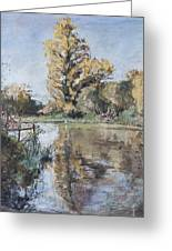 Early Autumn On The River Test Greeting Card by Caroline Hervey-Bathurst