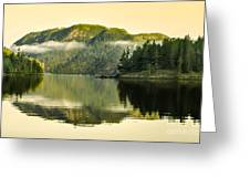 Early Morning Reflections Greeting Card by Robert Bales