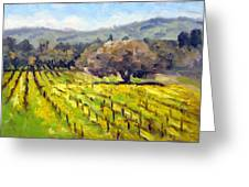 Early Mustard In The Vineyards Greeting Card by Char Wood