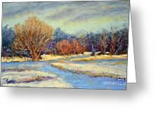 Early Snow Greeting Card by Arlene Baller