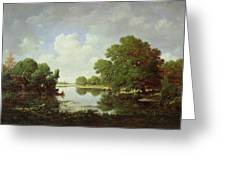 Early Summer Afternoon Greeting Card by Pierre Etienne Theodore Rousseau