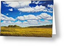 Early Summer Clouds Greeting Card by Leonard Heid