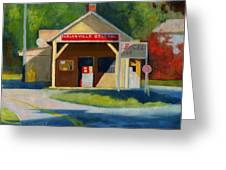 Earlysville Virginia Old Service Station Nostalgia Greeting Card by Catherine Twomey