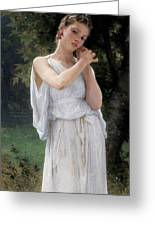 Earrings Greeting Card by William Adolphe Bouguereau