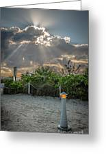 Earthly Light And Heavenly Light - Hdr Style Greeting Card by Ian Monk