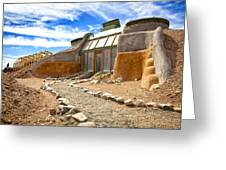 Earthship Taos  Greeting Card by Shanna Gillette