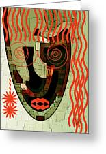 Earthy Woman Greeting Card by Ben and Raisa Gertsberg