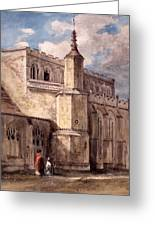 East Bergholt Church, Northside Greeting Card by John Constable