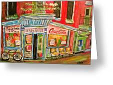 East End Depanneur Greeting Card by Michael Litvack