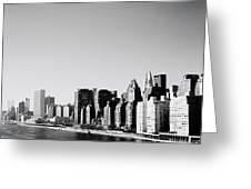 East River New York Greeting Card by Shaun Higson