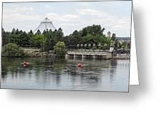 East Riverfront Park And Dam - Spokane Washington Greeting Card by Daniel Hagerman