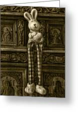 Easter Bunny From The Past Greeting Card by Gynt