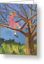 Easter In The Apple Tree Greeting Card by Betty Pieper
