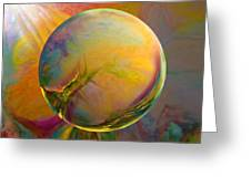 Easter Orb Greeting Card by Robin Moline