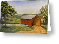 Eastern Covered Bridge Greeting Card by Susan Williams