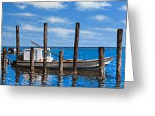 Eastpoint Gray Greeting Card by Rick McKinney