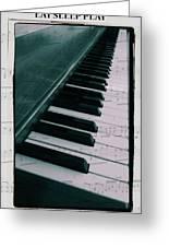 Eat Sleep Play Piano Greeting Card by Dan Sproul