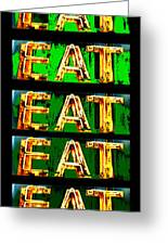 Eat Up Greeting Card by Jame Hayes