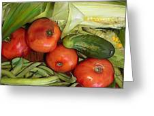 Eat Your Veggies Greeting Card by Elaine Plesser