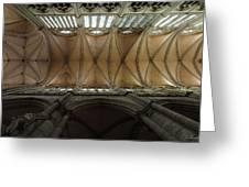 Ecclesiastical Ceiling No. 1 Greeting Card by Joe Bonita