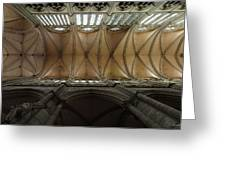 Ecclesiastical Ceiling No. 1 Greeting Card by Joe Bonita