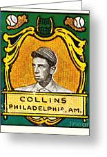 Eddie Collins Philadelphia Athletics Baseball Card 1025 Greeting Card by Wingsdomain Art and Photography