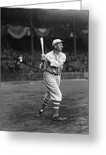 Eddie Collins Sr. Swing Pre Game Greeting Card by Retro Images Archive