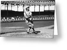 Eddie Collins Sr. Swinging Greeting Card by Retro Images Archive