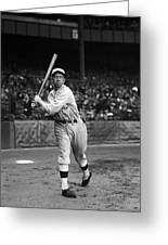 Eddie Collins Sr. Warm Up Swing Greeting Card by Retro Images Archive
