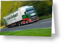 Eddie Stobart Lorry Greeting Card by Amanda And Christopher Elwell
