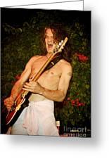 Eddie Van Halen Greeting Card by Nina Prommer