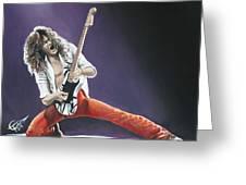 Eddie Van Halen Greeting Card by Tom Carlton