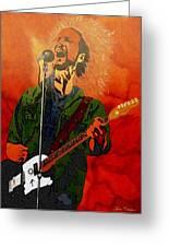 Eddie Vedder-eddie Live Greeting Card by Bill Manson