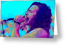 Eddie Vedder Greeting Card by John Travisano
